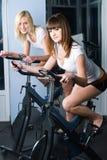 Girls on bicycle Stock Photo