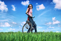 Girls bike Stock Photo