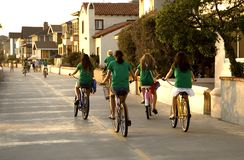 Girls On Bikes Royalty Free Stock Image