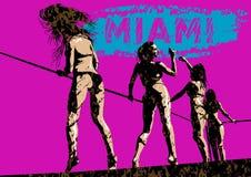 Bikini dance one. Girls in a bikini dance at disco party Stock Photography