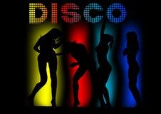 Bikini dance women eight. Girls in a bikini dance at disco party Stock Image