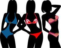 Girls in bikinis Royalty Free Stock Photos