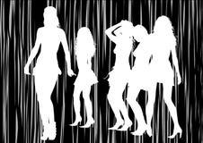 Girls on black Royalty Free Stock Photo