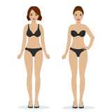 Girls in black underwear Royalty Free Stock Image