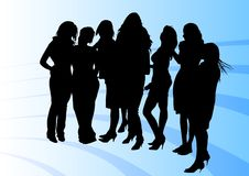 Girls in blue Royalty Free Stock Photo