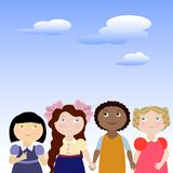 4 girls Royalty Free Stock Images