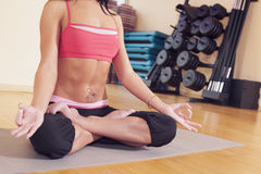 Girls body in yoga Royalty Free Stock Photos