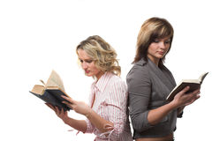 Girls with books Stock Photography