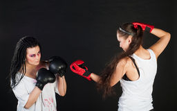 Girls boxing Stock Images