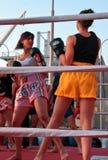 Girls boxing Royalty Free Stock Photos
