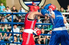 Girls in boxing competition Stock Photography