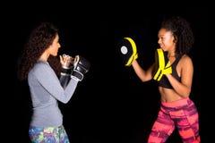 Girls boxing Royalty Free Stock Photo