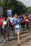 Girls and Boys participate in bangalore marathon Royalty Free Stock Photos