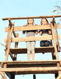 Girls on bryony Royalty Free Stock Images