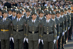 Girls cadet unit Royalty Free Stock Photo