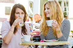 Girls in a cafe Royalty Free Stock Image
