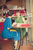 Girls in cafe Royalty Free Stock Photography