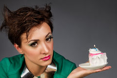 Girls with cake Stock Photo