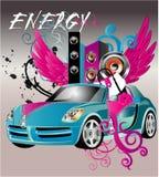 Girls car Royalty Free Stock Image