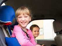 Girls in a car Royalty Free Stock Photos