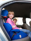 Girls in a car stock image