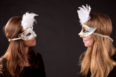 Girls carnaval mask Royalty Free Stock Photography
