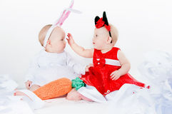 Girls in carnival costumes Stock Image