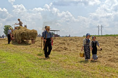 Girls Carry Water for the Hay Crew Royalty Free Stock Image