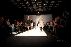 Girls on the catwalk Royalty Free Stock Image