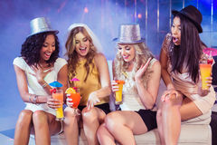 Girls celebrating bachelorette party Royalty Free Stock Photography