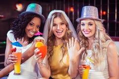 Girls celebrating bachelorette party Stock Image
