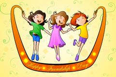 Girls celebrating Friendship Day Royalty Free Stock Photography