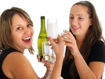 Girls celebrating Royalty Free Stock Photography