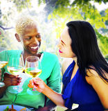 Girls Celebration Hanging Out Talking Chilling Concept Stock Photography
