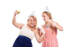 Girls celebration Royalty Free Stock Image