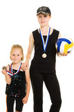 Girls champion Stock Image