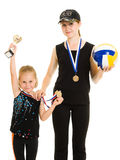 Girls champion Stock Photos