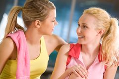 Girls� chat Stock Photography