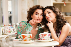 Girls Chat Stock Images