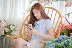 Girls chat messages Royalty Free Stock Images