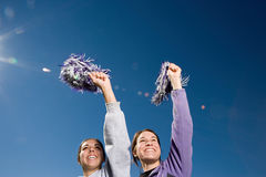 Girls cheerleading Stock Images