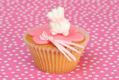 Girls Christening Cake Stock Image