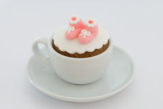 Girls Christening Cupcake Royalty Free Stock Images