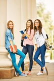 Girls after classes Royalty Free Stock Photo