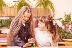 Girls on classroom Royalty Free Stock Photos