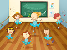 Girls in classroom Royalty Free Stock Photography