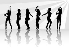Girls in club Royalty Free Stock Photos
