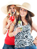 Girls with cocktails Stock Photos