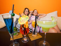Girls with cocktails Stock Photo