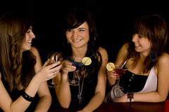 Girls with coctail Stock Photos
